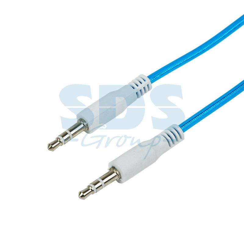 Аудио кабель AUX 3.5 мм гелевый 1M синий