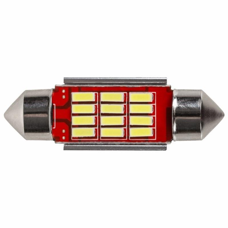 Светодиодная лампочка цоколь SV8,5 36мм. с радиатором