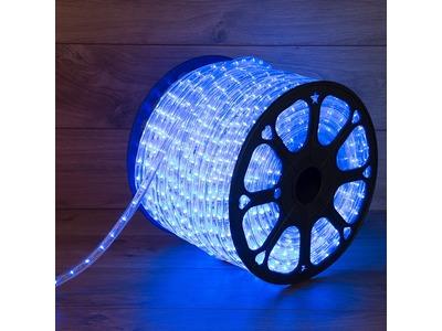 Дюралайт LED, постоянное свечение (2W) - синий Эконом 24 LED/м , бухта 100м