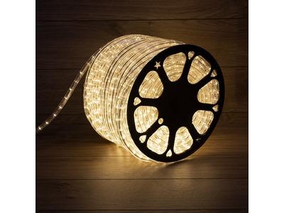 Дюралайт LED, постоянное свечение (2W) - ТЕПЛЫЙ БЕЛЫЙ, 36 LED/м, бухта 100м