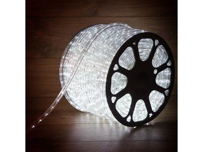 Дюралайт LED, эффект мерцания (2W) - белый Эконом 24 LED/м , бухта 100м