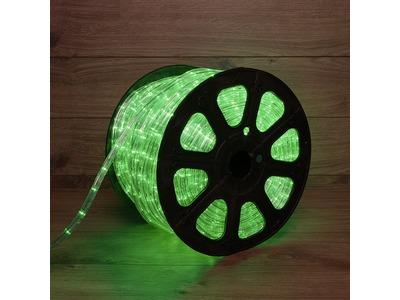 Дюралайт LED, свечение с динамикой (3W) - зеленый, 24 LED/м, бухта 100м