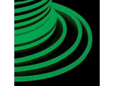 Гибкий Неон DIP 12x26мм - зеленый, бухта 50м