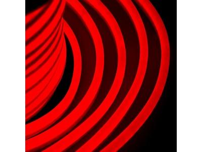Гибкий Неон DIP 12x26мм - красный, оболочка красная, бухта 50м