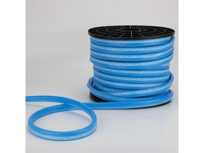 Гибкий Неон DIP 12x26мм - синий, оболочка синяя, бухта 50м
