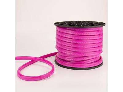 Гибкий Неон DIP 12x26мм - розовый, оболочка розовая, бухта 50м