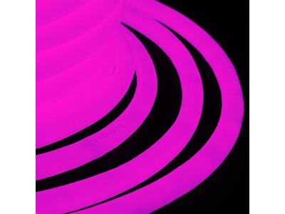 Гибкий Неон LED 360 (круглый) - розовый, бухта 50м