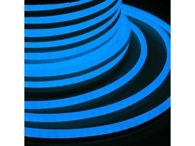 Гибкий Неон LED SMD 15х26 мм, синий, 120 LED/м, бухта 50м