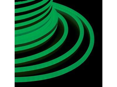 Гибкий Неон LED SMD 15х26 мм, зелёный, 120 LED/м, бухта 50м
