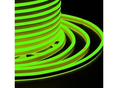 Гибкий Неон LED SMD, компактный 7х12мм, двухсторонний, зелёный, 120 LED/м, бухта 100м