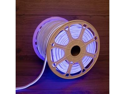 Гибкий неон LED SMD 8х16 мм, двухсторонний, синий, 120 LED/м, бухта 100 м