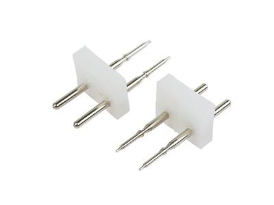 Разъем-иглы для соединения гибкого неона 12х12мм на шнур/коннектор