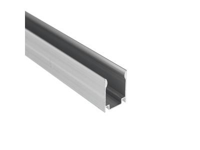 Короб алюминиевый для гибкого неона 15х26мм, длина 1 метр