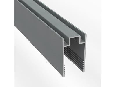 Короб алюминиевый для одностороннего гибкого неона 8х16 мм, длина 1 метр