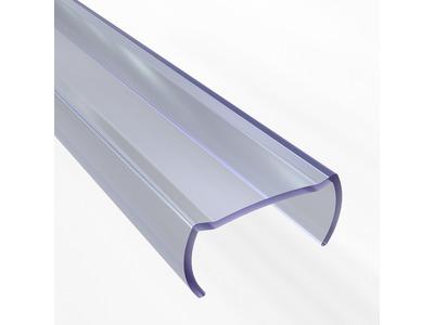 Короб пластиковый для гибкого неона формы D (16х16 мм), длина 1 метр