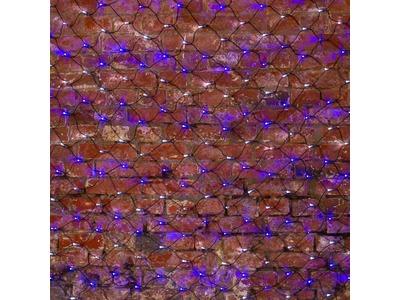 """Гирлянда """"Сеть"""" 2х1,5м, черный ПВХ, 288 LED Белые/Синие"""