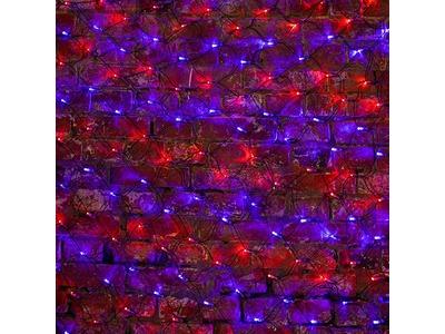 """Гирлянда """"Сеть"""" 2,5х2,5м, черный ПВХ, 432 LED Красные/Синие"""