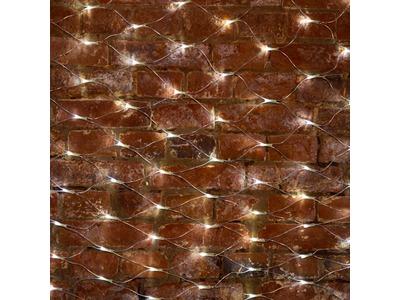 """Гирлянда """"Сеть"""" 2х1,5м, свечение с динамикой, прозрачный ПВХ, 288 LED, 230 В, цвет: Белый"""