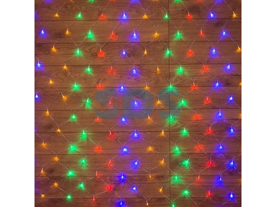 "Гирлянда ""Сеть"" 1х1,5м, прозрачный ПВХ, 96 LED Мультиколор"