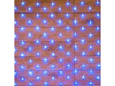 """Гирлянда """"сеть"""" 1,8х1,5м, прозрачный ПВХ, 180 LED, цвет: Синий"""