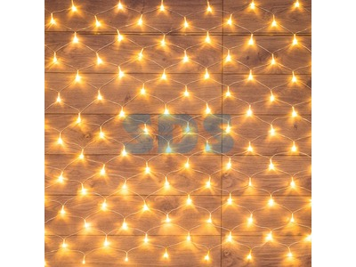 "Гирлянда ""Сеть"" 1,8х1,5м, прозрачный ПВХ, 180 LED ТЕПЛЫЙ БЕЛЫЙ"