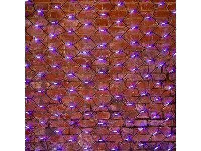 """Гирлянда """"Сеть"""" 2x1,5м, черный КАУЧУК, 288 LED Белые/Синие"""