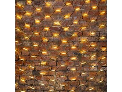 """Гирлянда """"Сеть"""" 2x3м, черный КАУЧУК, 432 LED ТЕПЛЫЙ БЕЛЫЙ"""