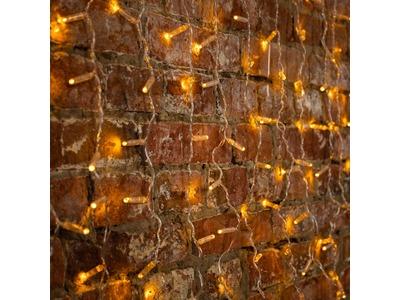 """Гирлянда """"Светодиодный Дождь"""" 2x0,8м, прозрачный провод, 230 В, диоды Желтые, 160 LED"""
