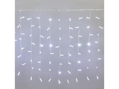 """Гирлянда """"Светодиодный Дождь"""" 2x0,8м, прозрачный провод, 230 В, диоды Белые, 160 LED"""
