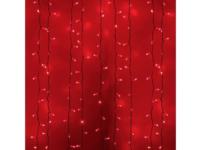 """Гирлянда """"Светодиодный Дождь"""" 2х3м, постоянное свечение, белый провод, 230 В, диоды КРАСНЫЕ, 760 LED"""