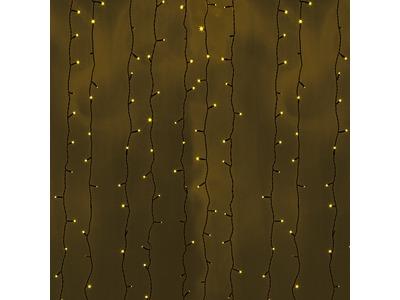 """Гирлянда """"Светодиодный Дождь"""" 2х3м, постоянное свечение, черный провод, 230 В, диоды ЖЁЛТЫЕ, 760 LED"""