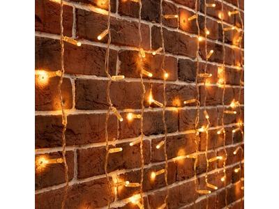 """Гирлянда """"Светодиодный Дождь"""" 2х3м, постоянное свечение, прозрачный провод, 230 В, диоды ЖЁЛТЫЕ, 760 LED"""