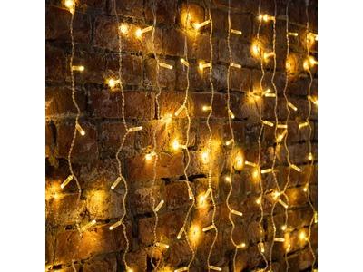 """Гирлянда """"Светодиодный Дождь"""" 2х3м, постоянное свечение, прозрачный провод, 230 В, диоды ТЕПЛЫЙ БЕЛЫЙ, 448 LED"""