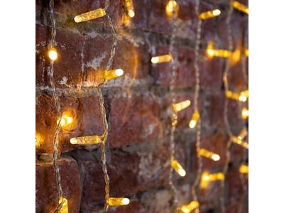 """Гирлянда """"Светодиодный Дождь"""" 2х3м, постоянное свечение, прозрачный провод, 230 В, диоды ТЕПЛЫЙ БЕЛЫЙ, 760 LED"""