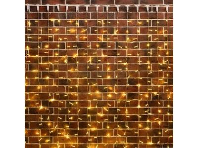"""Гирлянда """"Светодиодный Дождь"""" 2х3м, постоянное свечение, прозрачный провод, 230 В, цвет: Золото, 760 LED"""