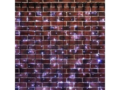 """Гирлянда """"Светодиодный Дождь"""" 2х6м, постоянное свечение, черный провод, 230 В, диоды БЕЛЫЕ, 1140 LED"""