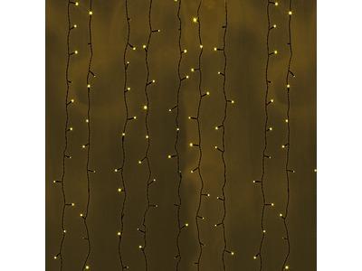 """Гирлянда """"Светодиодный Дождь"""" 2х9м, постоянное свечение, черный провод, 230 В, диоды ЖЕЛТЫЕ, 2200 LED"""