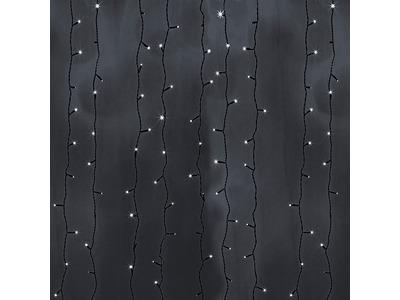 """Гирлянда """"Светодиодный Дождь"""" 2х9м, постоянное свечение, черный провод, 230 В, диоды БЕЛЫЕ, 2200 LED"""