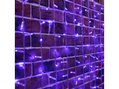 """Гирлянда """"Светодиодный Дождь"""" 2х9м, постоянное свечение, прозрачный провод, 230 В, диоды СИНИЕ, 2200 LED ( партия 2020 - 1200 LED)"""