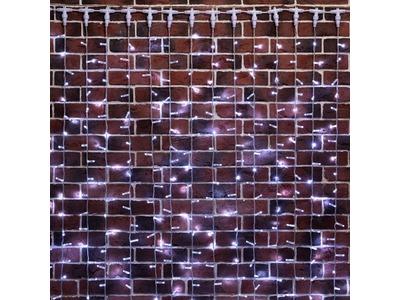 """Гирлянда """"Светодиодный Дождь"""" 2х9м, постоянное свечение, прозрачный провод, 230 В, диоды БЕЛЫЕ, 2200 LED"""