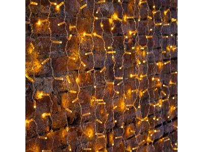 """Гирлянда """"Светодиодный Дождь"""" 2х1,5м, постоянное свечение, прозрачный провод, 230 В, диоды ЖЁЛТЫЕ, 360 LED"""