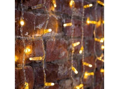 """Гирлянда """"Светодиодный Дождь"""" 2х1,5м, постоянное свечение, прозрачный провод, 230 В, диоды ТЕПЛЫЙ БЕЛЫЙ, 360 LED"""