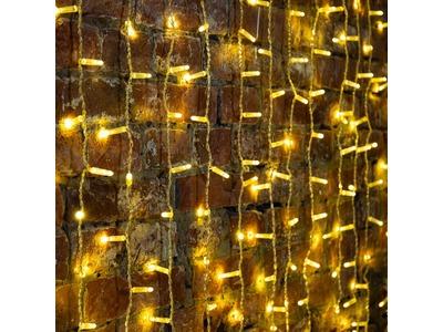 """Гирлянда """"Светодиодный Дождь"""" 2х1,5м, постоянное свечение, прозрачный провод, 230 В, цвет: Золото, 360 LED"""