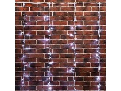"""Гирлянда """"Светодиодный Дождь"""" 2х3м, эффект водопада, прозрачный провод, 24В, диоды БЕЛЫЕ, 240 LED"""