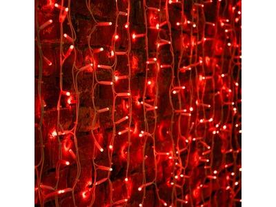 """Гирлянда """"Светодиодный Дождь"""" 2х3м, постоянное свечение, белый провод """"КАУЧУК"""", 230 В, диоды КРАСНЫЕ, 760 LED"""
