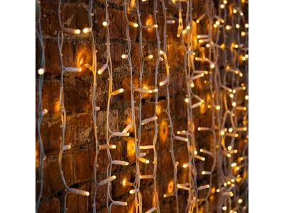 """Гирлянда """"Светодиодный Дождь"""" 2х3м, постоянное свечение, белый провод """"КАУЧУК"""", 230 В, диоды ТЕПЛЫЙ БЕЛЫЙ, 760 LED"""