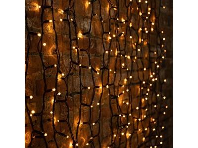 """Гирлянда """"Светодиодный Дождь"""" 2х3м, постоянное свечение, черный провод """"КАУЧУК"""", 230 В, диоды ЖЁЛТЫЕ, 760 LED"""