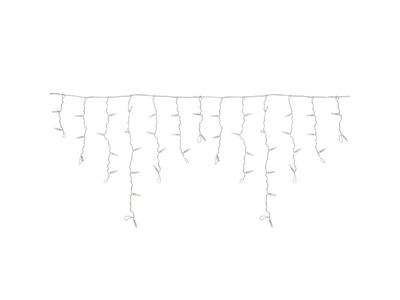 Гирлянда Айсикл (бахрома) светодиодный, 2,4 х 0,6 м, прозрачный провод, 230 В, диоды красные, 88 LED NEON-NIGHT