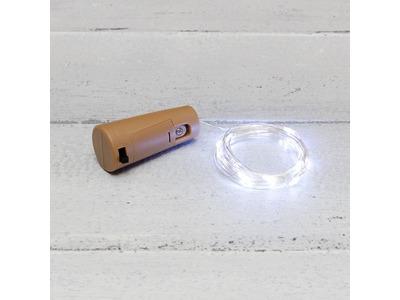 Гирлянда «Роса» с пробкой 2 м, 20 LED, белое свечение, 3хLR44 в комплекте NEON-NIGHT