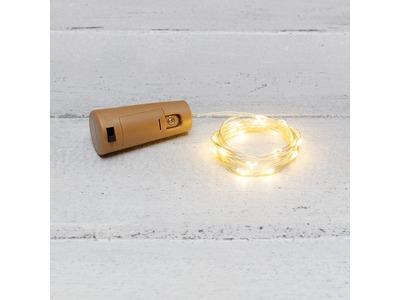 Гирлянда «Роса» с пробкой 2 м, 20 LED, теплое белое свечение, 3хLR44 в комплекте NEON-NIGHT
